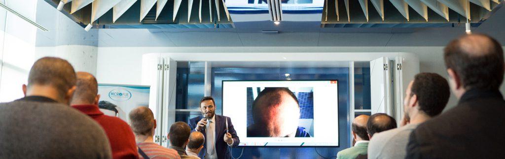 conferencia Barcelona trasplante capilar MicroFue