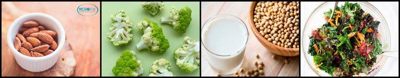 vitamine per i capelli frutti secchi soia broccoli